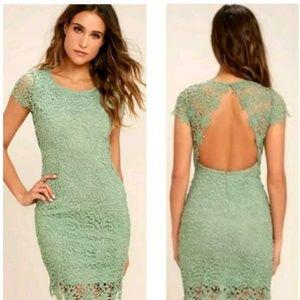 NWT Lulu's Hidden Talent Backless Lace Dress Sz L